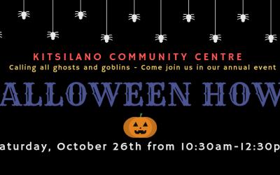 Halloween Howl 2+ yrs-Oct 26