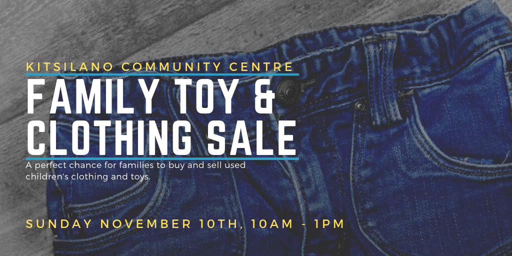 Family Toy and Clothing Sale November-10 from 10:00 am to 1:00 pm  A perfect chance for families to buy and sell used children's clothing and toys. Great bargains for parents with growing children.  One table per vendor. Table reservation registration is in person (so table selection can be done) beginning, Mon, Aug. 13 at 7pm until tables sell out. Vendor tables are $20. Free admission for bargain hunting customers on event day. Please note that table fees are non-refundable and non-exchangeable.  Registration in-person by vendor only. One table per person. Please note that table fees are non-refundable and non-exchangeable.