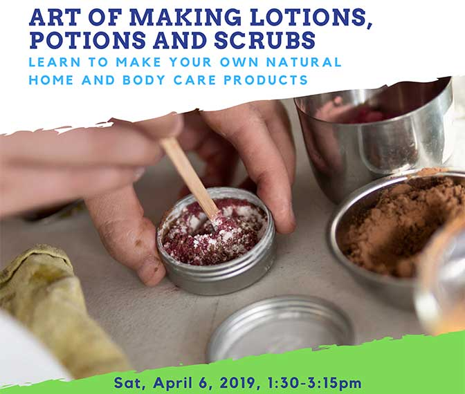 Join us for a hands-on workshop taught by Iona Bonamis, Eco-Maternity Consultant and Greenproofer, who will take us through step-by-step how to easily make your own natural home and body care products. All supplies will be provided, and you'll take home all the products that you'll be making. Pre-crawling babies who are happy to be in a stroller or carrier are welcome.Sa 1:30 PM-3:15 PM $60/sessApr 6 197451Instructor: Iona Bonamis