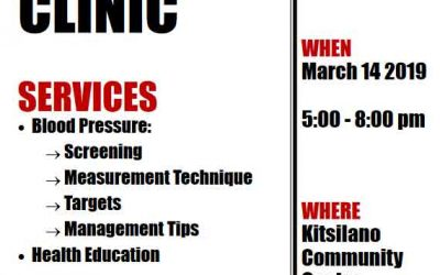Blood Pressure Clinic-March 14