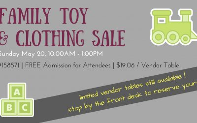 Family Toy and Clothing Sale-May 20
