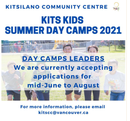 Summer Day Camp Leader Positions Available